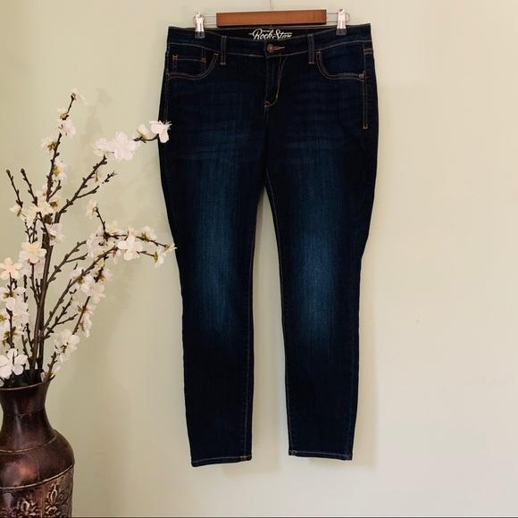 Old Navy Denim - Old Navy RockStar Dark Wash Skinny Jeans Size 14S
